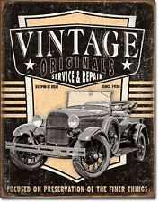 Vintage Originals Antique Truck Service And Repair TIN SIGN Garage Metal Poster