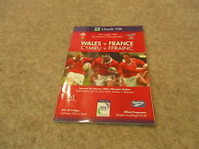 Wales v France Saturday February 5th 2000 6 Nations Match Programme