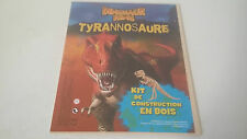 KIT DE CONSTRUCTION EN BOIS DINOSAUR KING TYRANNOSAURE - SEGA SUNRISE - NEUF