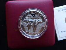 2013 Canadá Hockey 1/2oz Plata Fina Mate prueba coin-9th en canadiense o serie