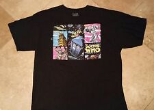 Dr Who Short Sleeve Cartoon Graphic Tee Shirt 100% Cotton Black XL