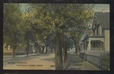 Postcard MARTINS FERRY Ohio/OH  Walnut Street Family Houses/Homes view 1907