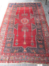 Rare Antique Caucasian Area Rug Carpet wool Hand Made 267x167-cm / 105.1x65.7-in