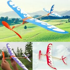 Foam Elastic Powered Glider Plane Thunderbird Kit Flying Model Aircraft Toy