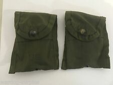 Lot of 2 U.S Military Issue First Aid / Compass Pouch Alice Clip OD Army USMC