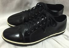 Kenneth Cole Fashion Sneakers Down N Up Black Shoes Men's 9.5M Patent Leather