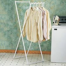Folding Clothes Drying Rack Space Saving Portable Energy Saver Coated Metal 2B