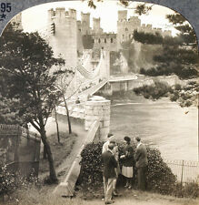 Keystone Stereoview CONWAY Medieval Castle in WALES from the 1930's T600 Set # A