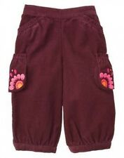 NWT Gymboree 3-6 mo PERUVIAN DOLL Purple Corduroy PANTS