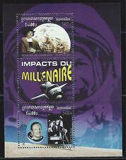 Cambodia SC2058 Souv.Sheet Columnbus-Ships-Neil Armstrong Lunar Module MNH 2001
