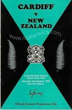 NEW ZEALAND ALL BLACKS TOUR 1978 v CARDIFF RUGBY PROGRAMME