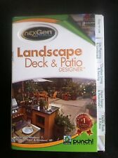 Punch! Landscape Deck & Patio Designer NexGen 2 (for PC) *new,sealed*
