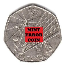 LONDON SUMMER OLYMPIC 2012 26/29 VOLLEYBALL 50P ** ERROR COIN ** FIFTY PENCE b