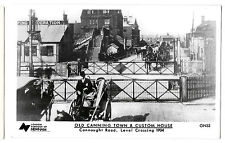 Old Canning Town & Custom House RPPC Unposted, Connaught Rd Level Crossing 1904