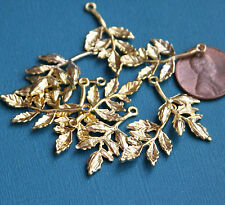 10 pcs gold plated Leaves Charms, alloy leaves pendant