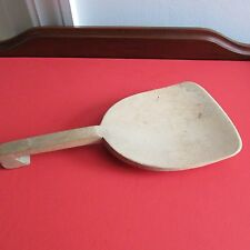 "Antique Wooden Butter Paddle/Scoop, 9 7/8"" Long, No Markings"