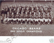 1943 CHICAGO BEARS WORLD CHAMPIONS 8X10 TEAM PHOTO