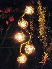 Home Decorative 5 Coconut Shell Hanging Lamps Garden Party Pendant Lighting