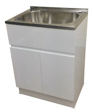 Brand new 45L laundry sink vanity cabinet trough sink finger pull 2 pack MDF