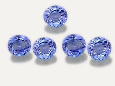 5 PIECES OF 2mm ROUND-FACET PURPLE/BLUE NATURAL TANZANITE GEMSTONES