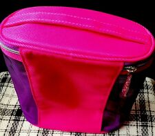 Clinique Cosmetic/Make up Bag~Pink/Purple Oval Shape~New~Fast P&P!