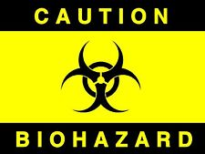 Caution - Bio Hazard, Diecut vinyl adhesive sticker decal  130x100mm