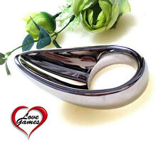 Teardrop shaped stainless steel Chastity Device inclusive international Postage!