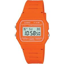 Casio Vintage Colour F-91WC-4A2EF Classic Digital RETRO LCD Orange Watch F-91