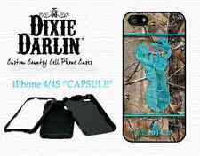 Turquoise Buck & Bow Camo White Capsule Cell Phone Case iPhone 4/4S (CP0203)