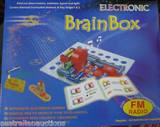 SNAP CIRCUITS BRAINBOX KIT 80 WITH FM  RADIO EXPERIMENTS MOTORS SWITCHES LIGHTS