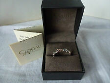 Clogau Gold, Silver & Rose Gold White Topaz Tree Of Life Ring, size O 1/2