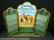 Large Vintage 1998 CAMEL Cigarettes, Metal & Wood, Zippo Lighter DISPLAY. NM