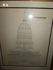 Architectural drawing of Kansas State Capitol by McDonald Bros. Louisville, KY