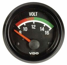MK1 GOLF VDO Voltmeter, 52mm, Black Cockpit