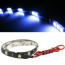 Car LED Strip light Auto 12SMD 30cm flexibles LED 5050 Chip White Waterproof