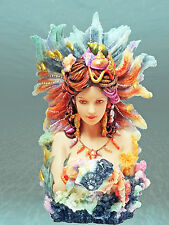 "Stunning JOSEPHINE WALL ""DAUGHTER OF THE DEEP"" Mermaid Ocean Fairy Statue NIB"