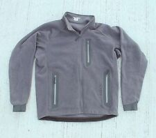 Arc'Teryx Full Zip Micro Fleece Jacket Mens Medium Large Grey Polyester