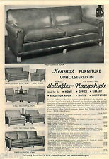 1953 ADVERT Kenmar Furniture Sofa Sectional Arm Chair Love Seat Naugahyde