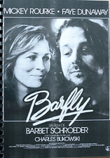 BARFLY Presseheft Bukowski Mickey Rourke Faye Dunaway Alice Krige Jack Nance