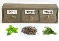 3 DRAWER VINTAGE SHABBY WOODEN HERBS SPICE SEED RACK STAND KITCHEN STORAGE BOX