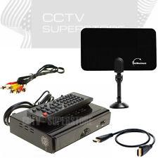 HD TV Digital Converter Box PVR Flat Indoor Tv Antenna 25 Miles