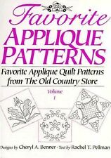 Favorite Applique Patterns: Favorite Applique Quilt Patterns from the Old Countr