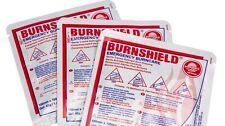 3 x Burnshield Emergency Burn Gel 10 x 10 cm Dressing Burn Care