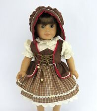 "Brown Traditional German Dress Fits 18"" American Girl Doll Clothes"