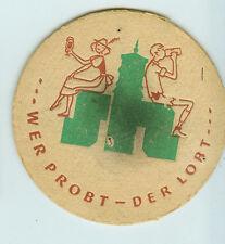 Antiguo usado Posavasos de cerveza Stuttgart Hofbräu D=10,5