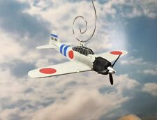 WWII Japanese Fighter Plane Mitsubishi A6M2 Zero Custom Ornament Pearl Harbor