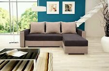 corner sofa bed brown sleeping option living room.