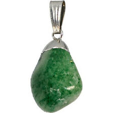 PENDANT - Large AVENTURINE Tumbled Crystal w/Description - Healing Stone, Reiki