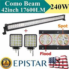 42inch 240W LED SPOT FLOOD COMBO Offroad Light Bar 4WD SUV Boat Driving Lamp 48W