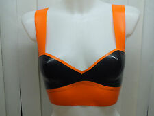Women's Latex Rubber Top crop top bra top